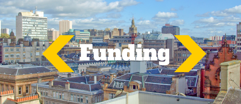 Digital Scotland Challenge Fund, Comic Relief Main Grant news, Glasgow's Stalled Spaces and more funding news
