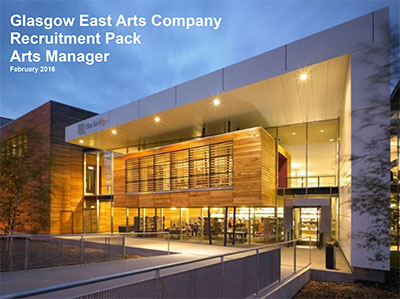 Arts Manager Opportunity at Platform, Glasgow East Arts Company