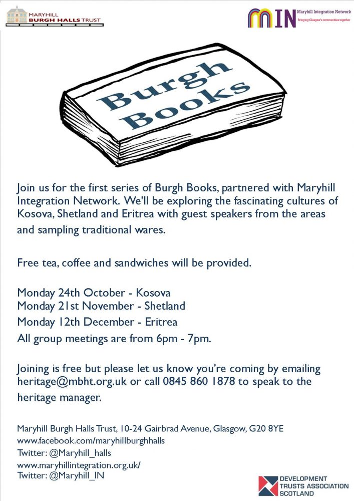 New book group – Burgh Books – explore, discover, discuss – all welcome!
