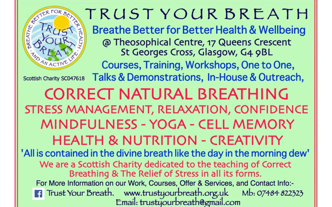 Trust Your Breath – Breathe Better for Better Health & Wellbeing