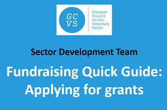 GCVS Fundraising Quick Guide video: Applying for Grants
