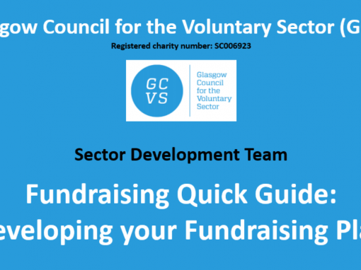 GCVS Fundraising Quick Guide video: Developing your Fundraising Plan